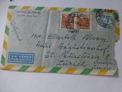 Treu Brief Von Brasilien Nach Zürich Ein Kunststoffkoffer Ist FüR Die Sichere Lagerung Kompartimentiert Briefe & Kartenposten