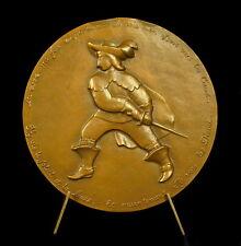 Médaille Cyrano de Bergerac del'écrivain et poète Edmond Rostand 68 mm medal