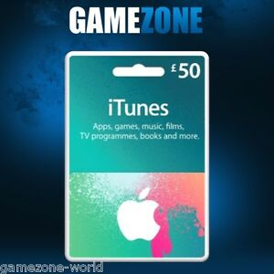 iTunes Gift Card £50 GBP UK Apple iTunes Code 50 Pound United ...