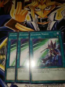 Common Yugioh LED6-EN010 Illusion Magic x3