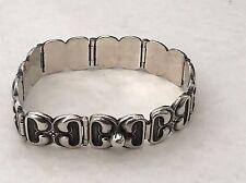 Hans Hansen Denmark Solid Sterling Silver 925 Screw Ball Bracelet