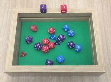 """nuevo"" Dados Caja/bandeja rectangular (doble capa) por customdicebox"