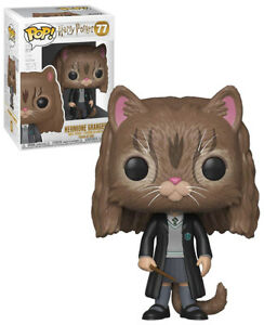 Original Harry Potter Pop Filme & Dvds Movies Vinyl Figur Hermione As Cat 9 Cm