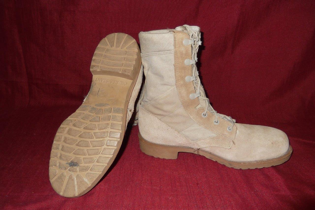 Military Boots 6 1 2 Reg Desert Tan USA Combat Hot WX Work Men Boys 410