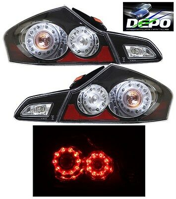 LED Tail Lights BLACK DEPO Fits 07-13 Infiniti G35 G37 11-12 G25 2015+ Q40 SEDAN