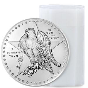 Roll of 20 - Golden State Mint Texas Commem 1 oz Silver Round GEM BU SKU54988