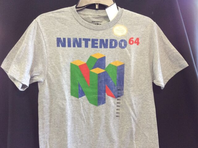 Nintendo Classic N64 Logo Mens Graphic T Shirt - OFFICIALLY LICENSED PRODUCT!!!