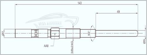 4x VEGO bougie de prechauffage Ducato 230 2.5 D IVECO Opel Arena Movano 2.5 D MASTER TRAFIC