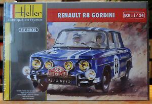 1967 Renault R 8 Gordini Monte Carlo 1:24 Heller 80700 wieder neu 2018