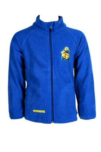 Minions Blue Unisex//Boy's Fleece Top Warm Jacket Coats Zip Up Age 6-12 Years