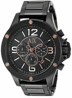Armani Exchange Men's AX1513 Chronograph Black Dial Black Steel Bracelet Watch