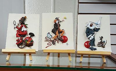 Annie Lee Art Clown Plaques VALENTINE,BUBBLES & JUGGLES Combo Blowout Sale