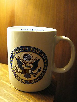 American Embassy State Department USA Bangkok Thailand Emblem Coffee Cup Mug