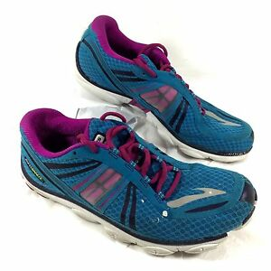 f4c178b350d Women s BROOKS Running Shoes Pink Blue Pure Connect Sz 9.5 M GUC