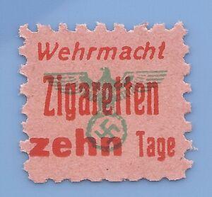Germany-Nazi-Third-Reich-Nazi-Cigarette-Swastika-Revenue-Ration-Stamp-WW2-ERA