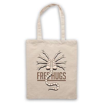 Aliens Free Hugs Facehugger Sci-Fi Horror Film Parody Slogan Ripley Unofficial Cotton Tote Bag Shopper