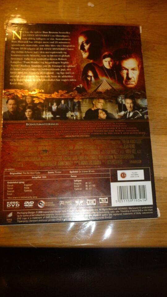 Da Vince Mysteriet, DVD, thriller