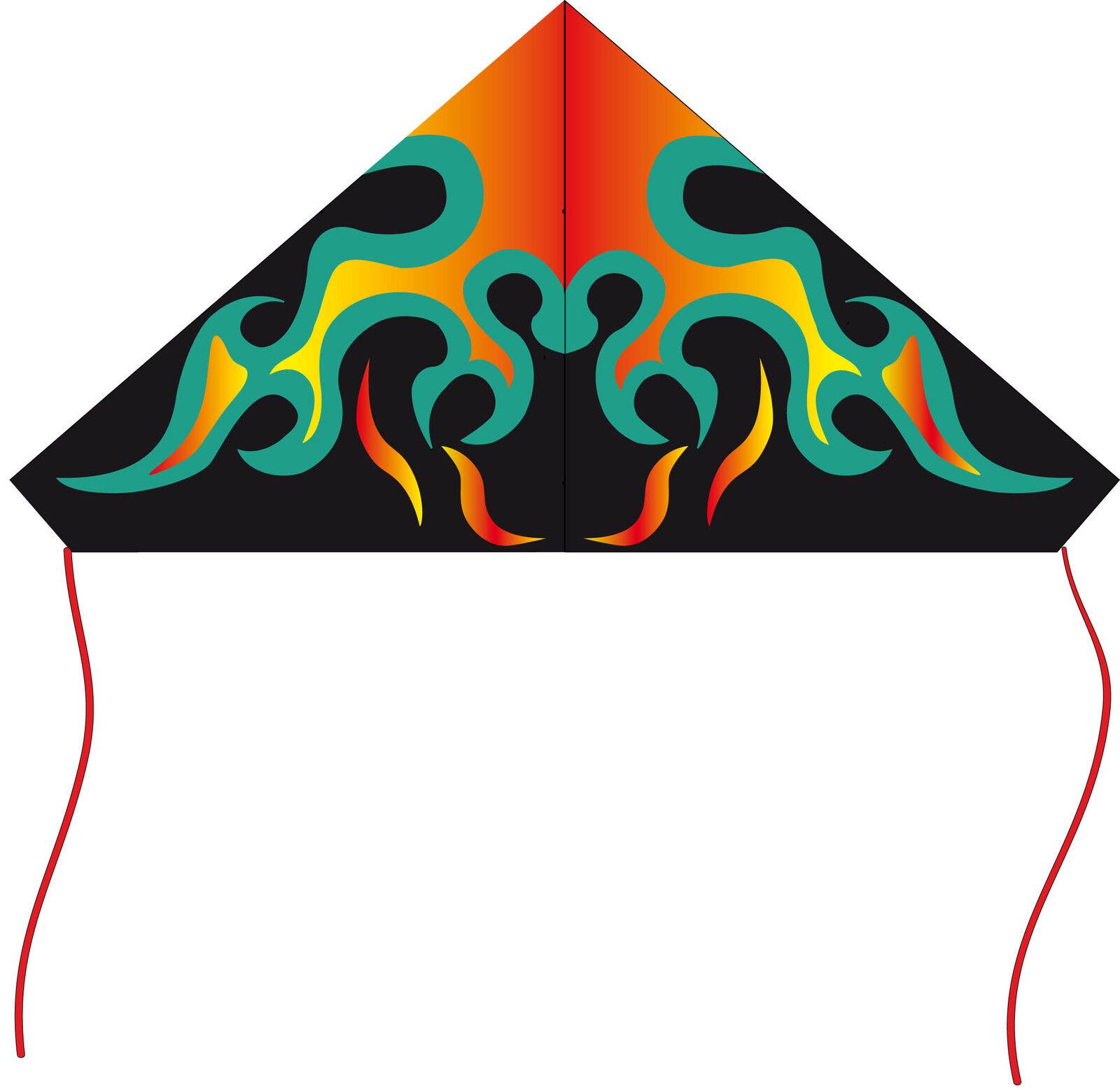 más orden Cometa una una una Cuerda Delta Negro Blitz Cometas Cometa Infantil Deltakite  echa un vistazo a los más baratos