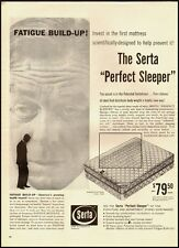 1960 vintage ad, SERTA Perfect Sleeper Mattress, $79.50  (030713)