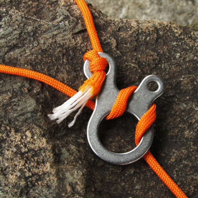 1pcs 3 Holes Multipurpose Camp Knot Pack Quicklinks tool Carabiner PVCA