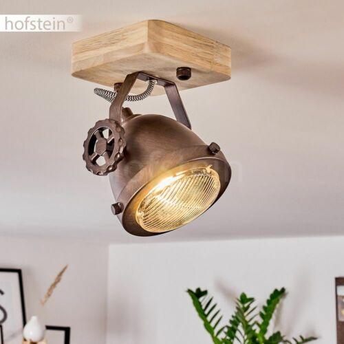 Vintage Decken Lampen Holz//braun Flur Strahler Wohn Schlaf Zimmer Beleuchtung