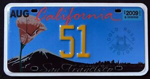 ALPCA-CALIFORNIA-034-STATE-FLOWER-GOLD-RUSH-REGION-034-2009-Graphic-Licence-Plate