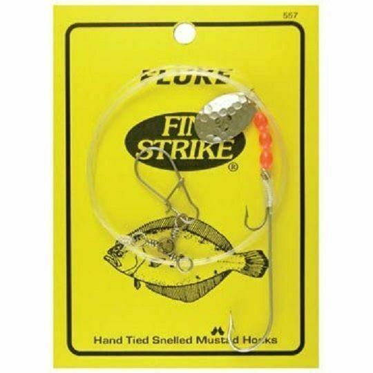 """Fin Strike 557 Fluke Rig Duratin Ryder Stinger w// Spinner Hook 36/"""" Leader 1pc"""