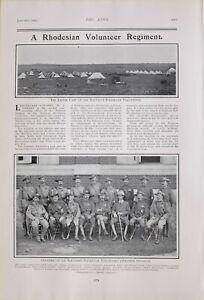 1903-PRINT-RHODESIAN-VOLUNTEER-REGIMENT-EASTER-CAMP-OFFICERS-WESTERN-DIVISION