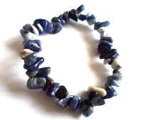 Healing Sodalite Small Chip Gemstone Bracelet - Meditation, Balance,Calm, Reiki.