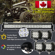 32inch LED Light Bar Combo +4x 4inch Cree Work Off road Truck Jeep SUV Fog 30/34