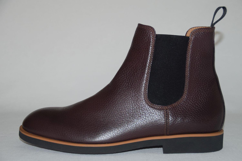 Hugo Boss chelsea botas, mod. Eden _ Chab _ GR, GR. ue 42  us 9 Dark rojo
