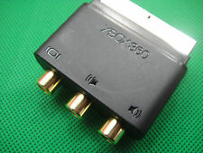 ORIGINAL Microsoft Xbox 360 block scart adaptor 3 RCA AV Audio Video Wii PS3