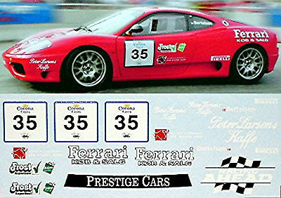 Ferrari 360 Challange CHGP #35 Bertelsen 1:18 Decal Abziehbild