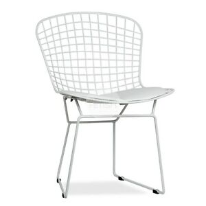 Awesome Details About Harry Bertoia Wire Chair White Furniture Fetish Free Pickup Gold Coast Evergreenethics Interior Chair Design Evergreenethicsorg