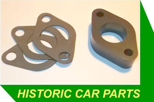 "SU HS2 1 ¼"" Carburettor Spacer Block /& 3 Gaskets for Morris Minor 1000 1960-72"