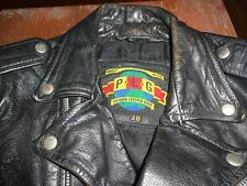Vintage Putnam Leather Gold Motorcycle Jacket  Great Condition
