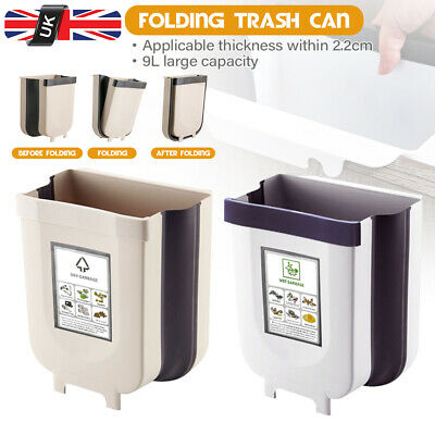 Hängender Müll Abfalleimer Mülleimer Küche WC Bad zusammenklappbar Wandmontage