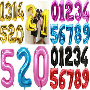 """40/"""" Giant Foil Number Balloon baloon Large Balloons Birthday Party baloons Balon"""