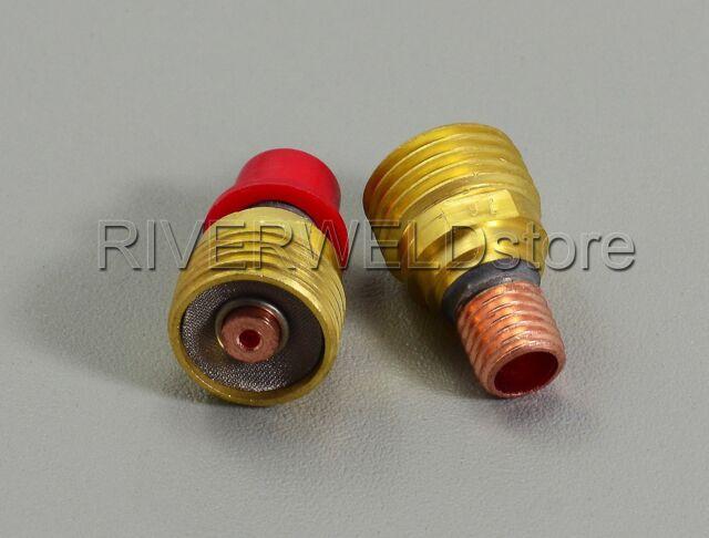 "TIG Gas Lens Collet Body Tool 45V43 1//16/"" SR DB PTA WP 9 20 Series Torch Qty-3"