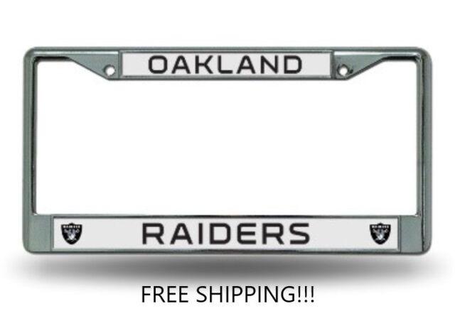 Oakland Raiders Chrome License Plate Frame | eBay