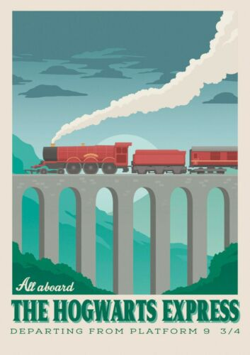 Harry Potter The Hogwarts Express Poster 11X17 Art Print