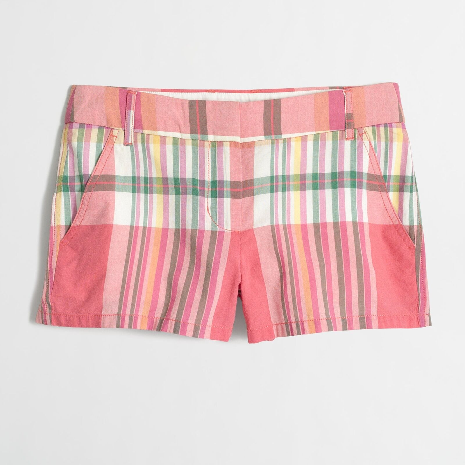 J.CREW Ladies 3  Madras Short Strawberry Plaid  Size 10  New with Tag