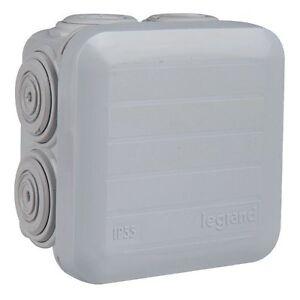 Boite dérivation étanche Plexo gris entrée défonçable 105X105X55 Legrand 92024