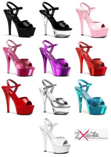 PLEASER KISS 209 PLATFORM HIGH HEEL POLE DANCING/LAP DANCER SHOES SIZES 3-11