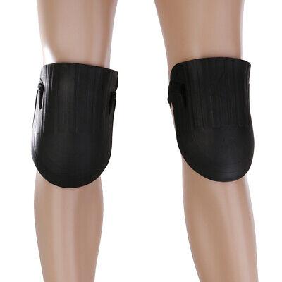 2Pcs Black Waterproof EVA Rubber Knee Pad Protector Home Garden Work