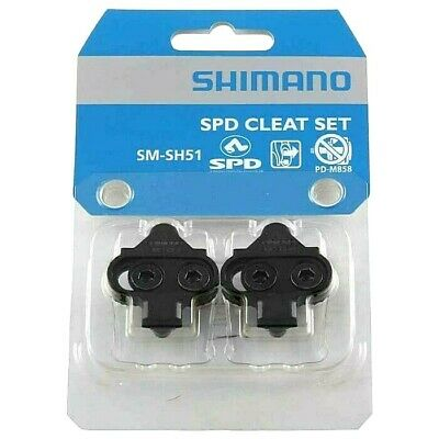 Shimano SPD SM-SH51 Cleats Pair Single Release 4-Degree Float Black Mountain