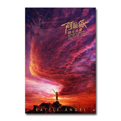 Alita Battle Angel Movie Art Silk Poster Canvas Wall Art Print 12x18 24x36 inch