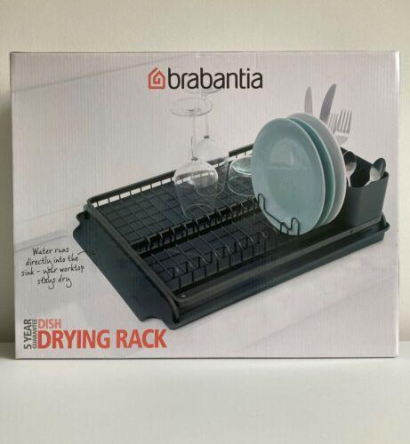 Brabantia Large Dish Drying Rack in Dark Grey with a 5 Year Guarantee