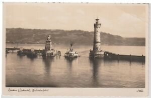 Lindau-Germany-Lighthouse-Vintage-Real-Photo-Postcard