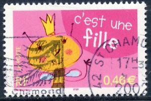 Responsable Stamp // Timbre France Oblitere N° 3463 C'est Une Fille